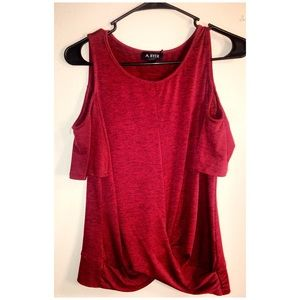 A. Byer red blouse!